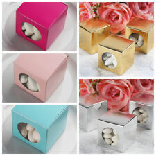 """100 Round Window Wedding Favor Boxes 2"""" x 2"""" Party Supplies Wedding Decorations"""