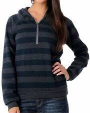New DC Shoes Women's Jrs Blue Striped Knit Thornton Pullover Fleece Hoodie $50