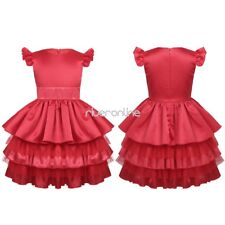 Girls Kid Flower Dress Tiered Princess Wedding Birthday Party Formal Pageant New