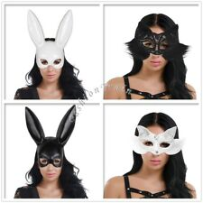 Halloween Cosplay Masquerade Bunny Rabbit Fox Face Mask AdultWomen Party Costume