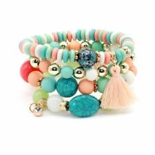 Multi-layer Candy Color Crystal Beads Decorated Stylish Bracelet For Women