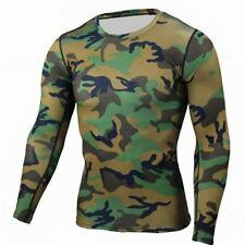 Men Boy Compression Base Layer Tight Top Shirt Under Skin Long Sleeve Camouflage