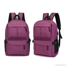 Simple Design Oxford Cloth Laptop Backpack With External Charging USB Port 2017