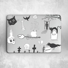 Cat Skull Halloween Pattern Hard Cover Case Macbook Pro Retina Air 11 12 13 15