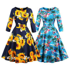 50'S 60'S Women Retro Rockabilly Dress Vintage Prom Party Swing Housewife Dress