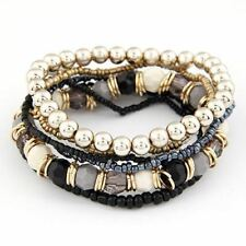 New Fashion Beads Decorated Multi Color Stretch Bracelet for Women JEX381