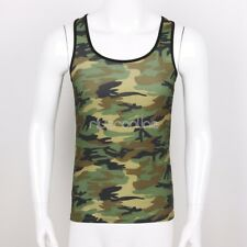 Mens Camouflage Vest Tank Top Undershirt Muscle Casual workout Clubwear Fashion
