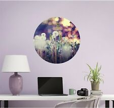 Dandelion Wall Decal Vinyl Removable Circle Decor