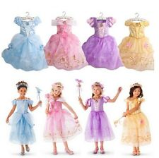 Kid Girls Princess Belle Beauty and the Beast Cosplay Costume Fancy Party Dress