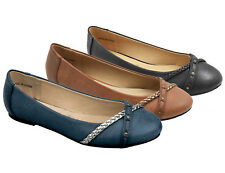 Greatonu Womens Leather Slip On Flats Loafers Casual Ballet Ballerina Shoes Size
