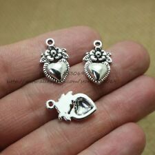 50pcs/lot Antique Look Flower Shaped Charms For Jewelry Making (Size: 10*17mm)