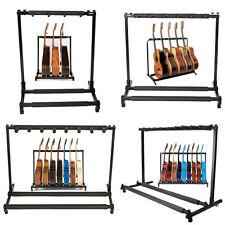 3/5/7/9 Triple/Five/Seven Multiple Guitar Bass Stand Holder Stage Folding Rack