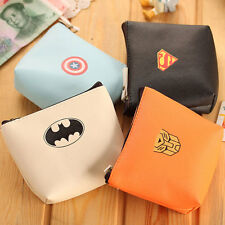 Creative Superman Women PU Coin Purse Mini Wallet Bag Zip Pouch Bag Handbag