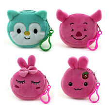 Cute Animal Plush Children Coin Purse Portable Women Mini Coin Wallet Pouch Bag