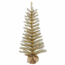 Vickerman Champagne Tinsel Tabletop Tree (MULTIPLE OPTIONS)