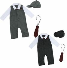 Baby Gentleman Boy Cotton Romper Hat Outfits Sets Party Formal Wedding Outfits