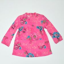 Kenzo Kids Girl Pink Floral Print Long Sleeve Dress Size 6M/18M/23M BNWT
