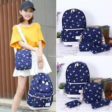 New Canvas Backpacks Set Travel Bag Laptop Backpack for Teenagers Girl 4 SH