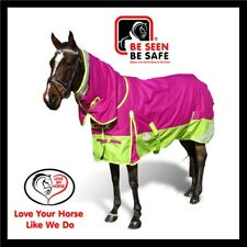 LOVE MY HORSE 600D 180g 5'3 - 6'6 Winter Combo Waterproof Horse Rug Rasb /Lime