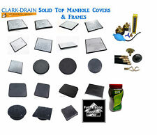 Clark Drain Solid Top Pedestrian & Driveway Manhole Covers & Frame All sizes