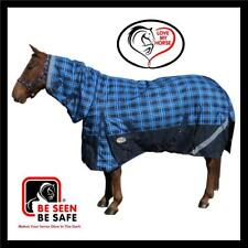 LOVE MY HORSE 600D 5'9 - 6'6  600D 300g Winter Fill Combo Horse Rug Tartan Blue