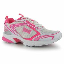 Everlast Jog Trainers Womens White/Cerise Gym Fitness Workout Trainers Sneakers