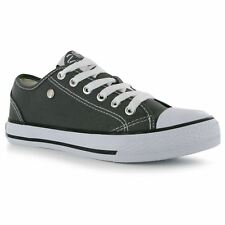 Dunlop Canvas Casual Trainers Womens Charcoal Sneakers Shoes Footwear