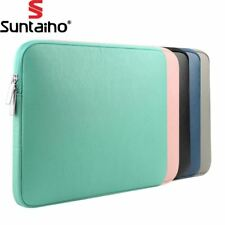 NEW PU Leather Waterproof Laptop Sleeve Bag Protective Zipper Notebook Case Comp