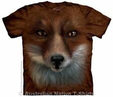 Big Face Fox T-Shirt in Adult Sizes - Big Animal Faces by The Mountain T-Shirts