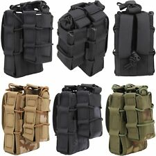Military Airsoft Army Molle Double Decker Rifle&Pistol Mag Magazine Bag Case #BD