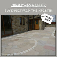 'RAJ' INDIAN SANDSTONE PAVING - SETTS - CIRCLES - WALLING - FREE 2 DAY DELIVERY*