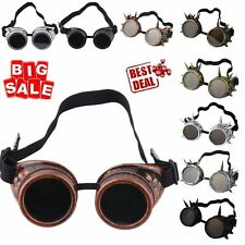 Vintage Victorian Steampunk Goggles Glasses Welding Cyber Punk Cosplay LOT YR