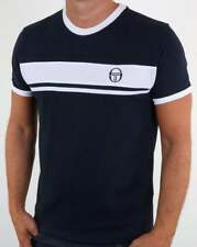 Sergio Tacchini Masters T Shirt in Navy & White - McEnroe young line dallas SALE
