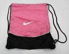 NIKE #C248 Women's Active Sports Gym Lightweight Pink/Black Sackpack Backpack