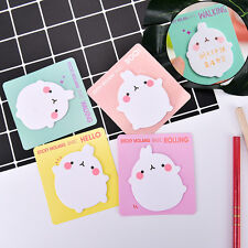 1X Cute Rabbit Sticky Notes Sticker Bookmarker Memo Pad Home Office Class HotLJ