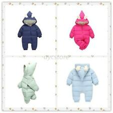 Winter Infant Baby Boys Girls Warm Snowsuit Toddler Hooded Romper Cotton-padded