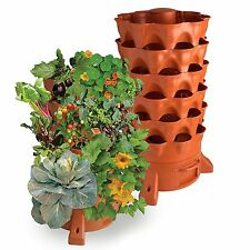 Garden Tower Rotating Vertical Flower Planter Pot 50 Plant Stackable Container