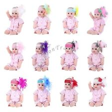 Newborn Baby Girls Headband Toddler Down Feather Headwear Head Bow Piece Flower