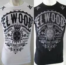ELWOOD Mens Brand New Latest Premium Top Tee T-Shirt Size S M L XL XXL black fox