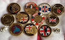 WORLD WAR 1 2 MEMORIAL COMMEMORATIVE COIN PLUS MORE
