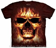 Skull Fire T-Shirt in Adult Sizes - Dark Fantasy Skulls by The Mountain Tees