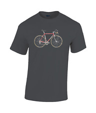 colnago mexico saronni campagnolo record 50th bicycle cotton T-shirt cycling