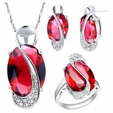 Fashion Crystal Silver Plated Wedding Wear Necklace Jewerly Set For Women