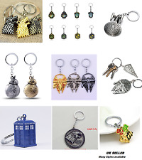 keyring Star Wars keychain Game of Thrones Harry Potter Star Trek Doctor Who UK