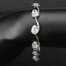White Color Silver Plated Necklace Earring Ring Bracelet Jewelry Set For Women