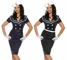 Sexy Pin-up Vintage Dress 50er Years Party Dress Navy Sailor Rockabilly S-XXXL