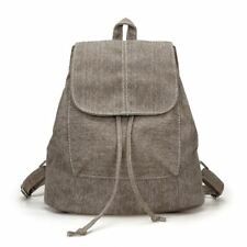 New Denim Fabric Canvas Material Zipper Small Backpack For Teenager