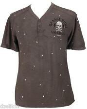 NWT Affliction Contemporary Flying A Slub Henley Tee T-Shirt Size L