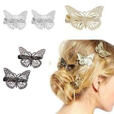 2pcs Prong Alligator Hair Clips Barrette Butterfly Hair Accessories Hairpins