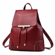 New Fashion Pu Leather School Travel Satchel Backpack For Teenager